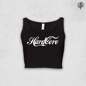 Hardcore Coke Style Crop Top